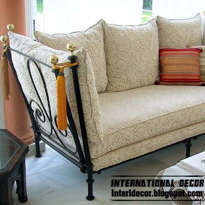 Interior decor idea wrought iron furniture cool ideas - Living rooms with different couches ...
