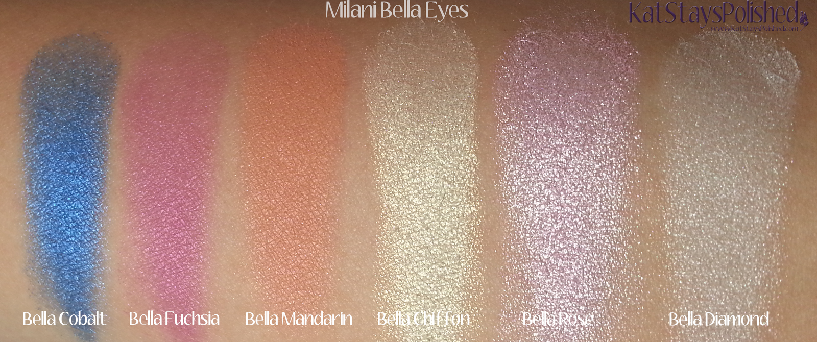 Milani Bella Eyes Gel Powder Eye Shadow - Swatches 25-30 | Kat Stays Polished
