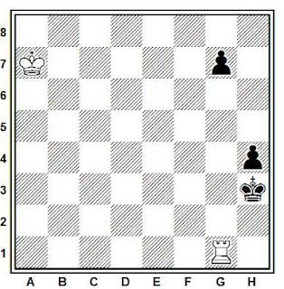 Problema ejercicio de ajedrez número 702: Estudio de G.A. Nadareishvili (1961)