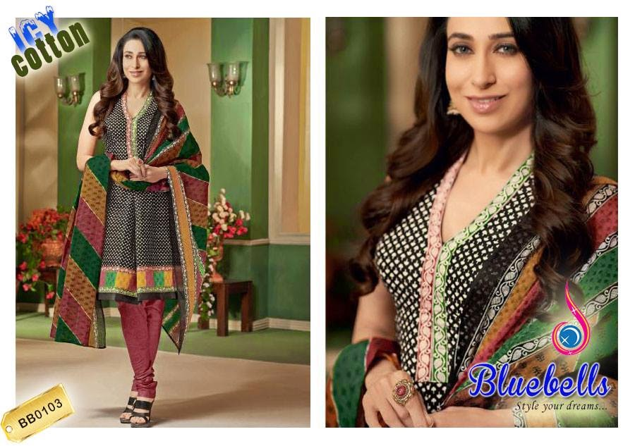 Karishma Kapoor embroidered lawn 2015