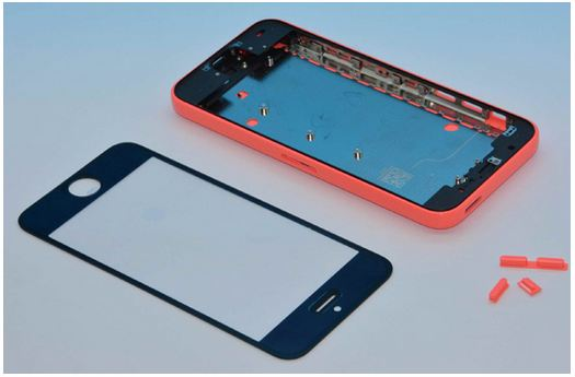 iPhone-5C-black-front-assembly-with-red-body