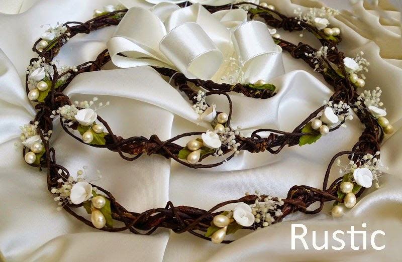 Crowns rustic stefana for wedding