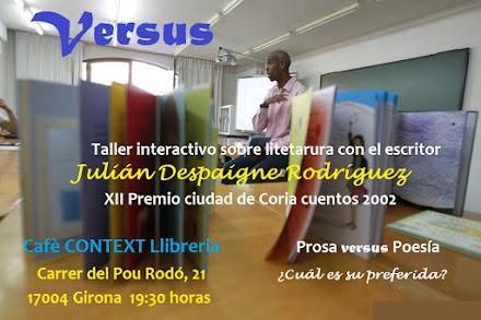 """Taller """"Versus"""" en el Café Context Libreria de Girona"""