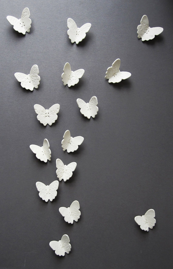 made con amor: diy clay butterfly wall decor