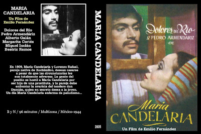Caratula, Cover, Dvd: María Candelaria | 1944