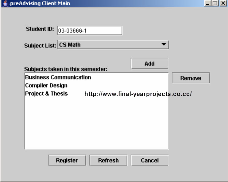 student registration system I have made a small project and i am just wondering if i could add more functionality to the project eg more classed etc is a better way of displaying my results.