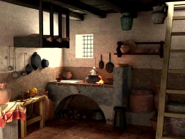 La lapicera pompeya recreada Cocinas antiguas