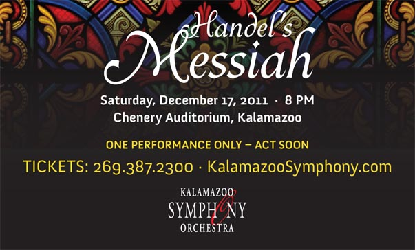 banner messiah Kalamazoo Symphony Orchestra in. Handel's Messiah