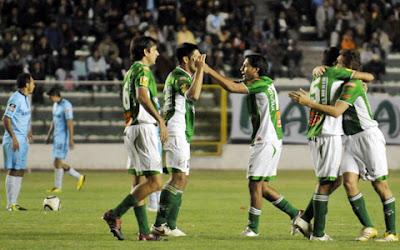 Club Oriente Petrolero - Festejo del gol de Alcides Peña - Oriente Petrolero