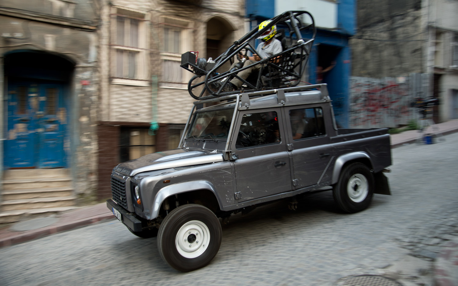 Ben Collins Skyfall Land Rover Defender Stunt Car