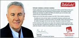carta de propaganda electoral enviada por el IU y escrita por Cayo Lara