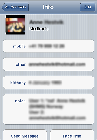 iphone contact sync facebook