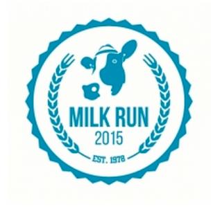 image 2015 milk run race logo shows cow