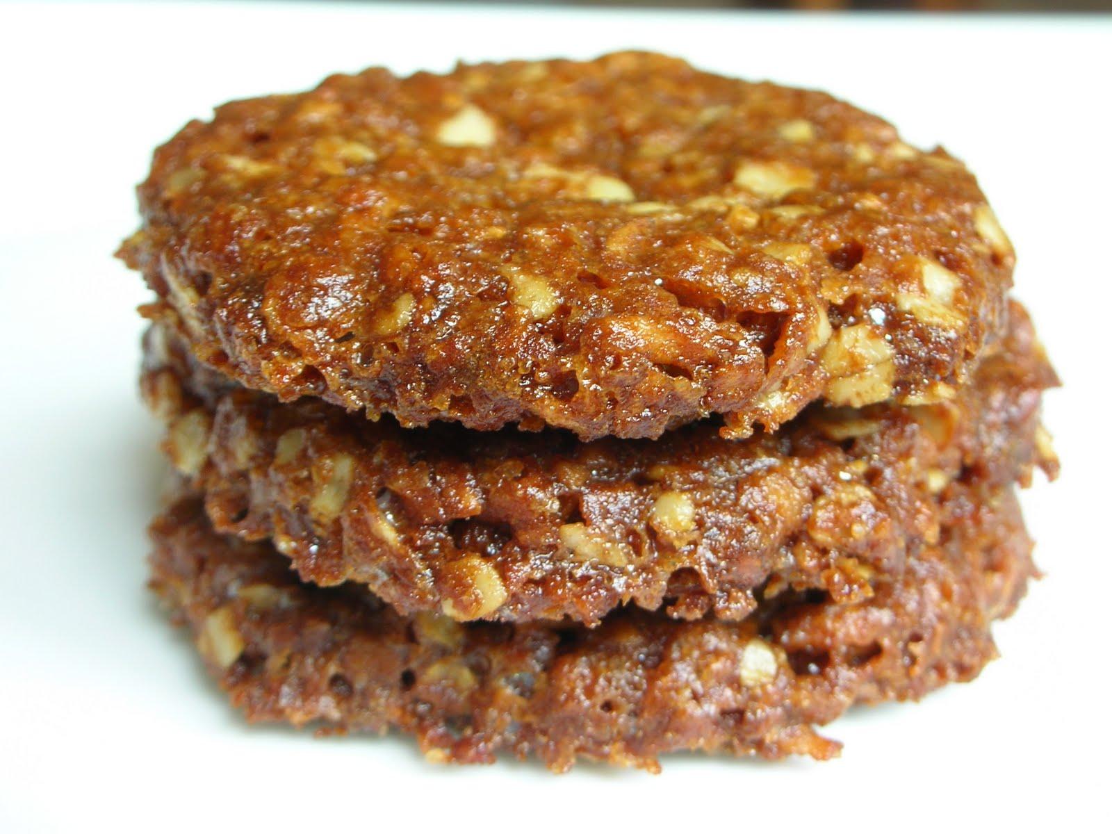 ... Good Eats: Coconut oat molasses cookie/biscuit (modified ANZAC) recipe