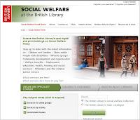 Screen shot of the Social Welfare Portal