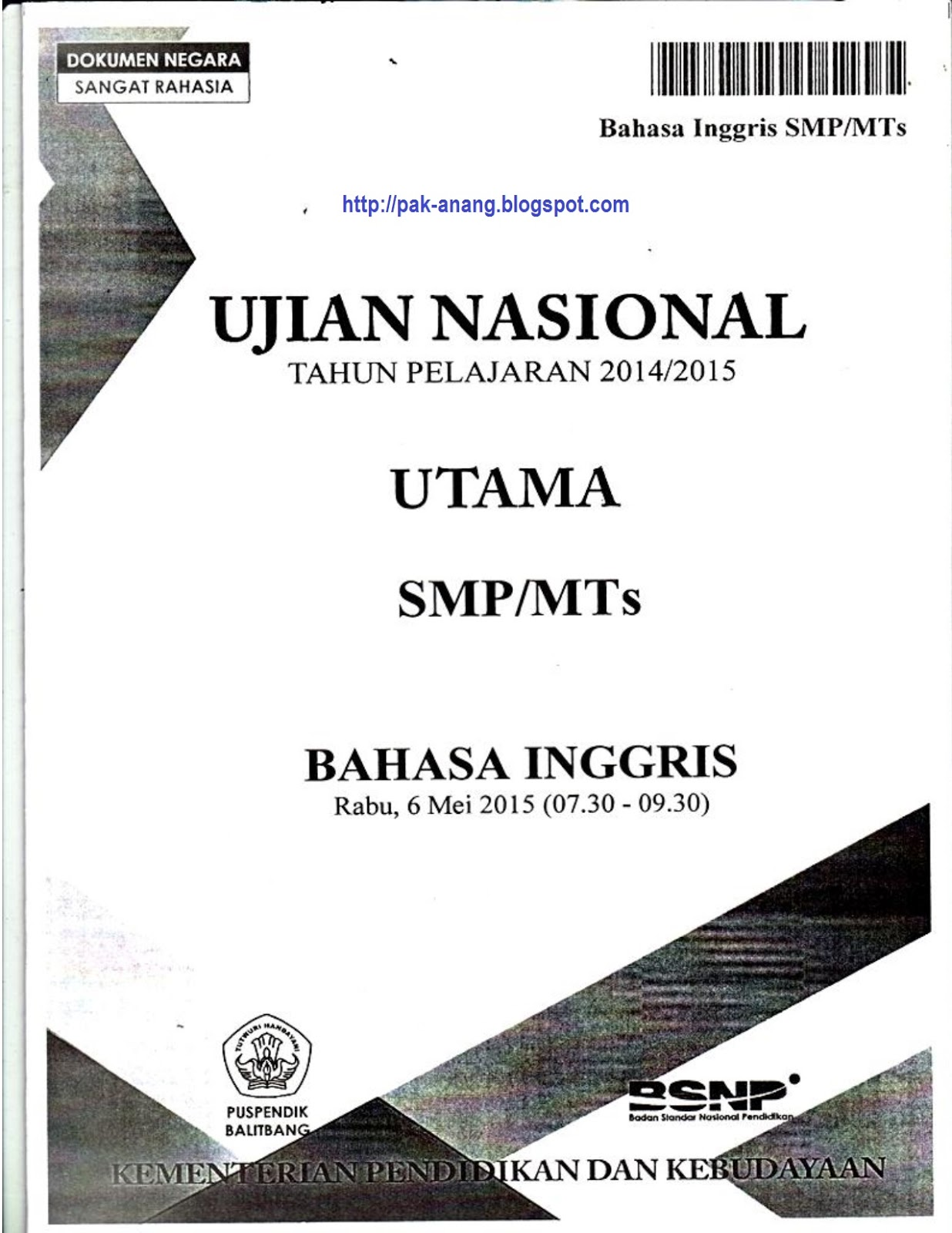 Bank soal un ipa smp - Download Soal Un Bahasa Indonesia Smp 2015