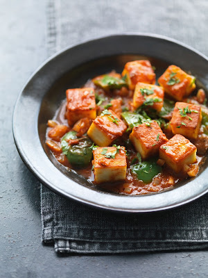 Easy indisch vegetarisch Chilli Paneer