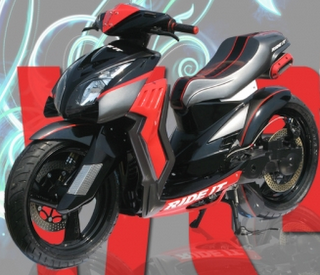 Yamaha mio modification 2009.jpg
