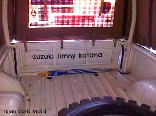 Suzuki Jimny katana, Iklan baris Mobil