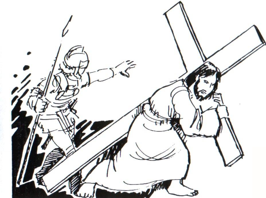 Jesús camino al calvario para colorear y pintar - Dibujo Views