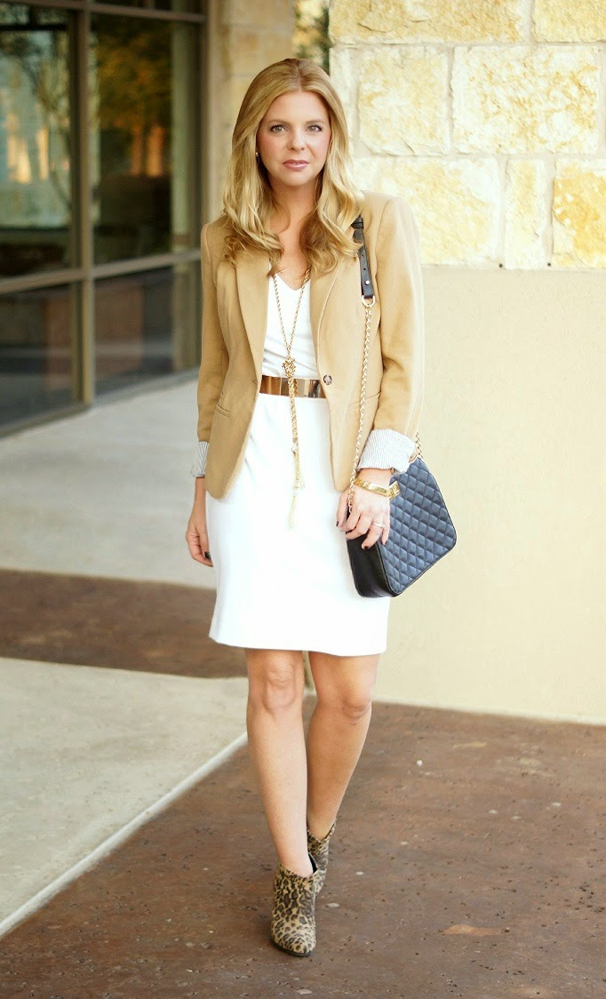 merona target camel tan blazer for fall outfit idea