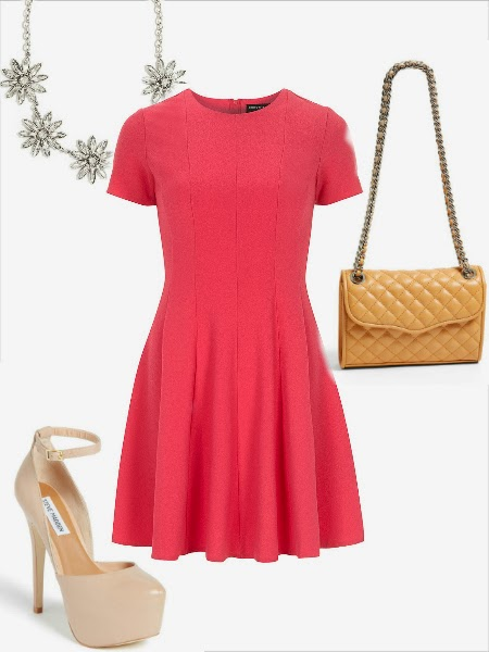 The Workette, Valentines day outfit, Rebecca minkoff Affair, Dorothy Perkins, Bauble bar valentine