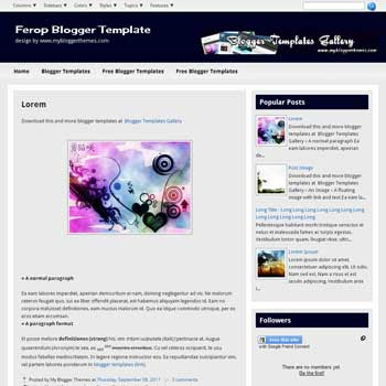 Ferop blogger template. template blogspot clean for blogger. free blogspot template download