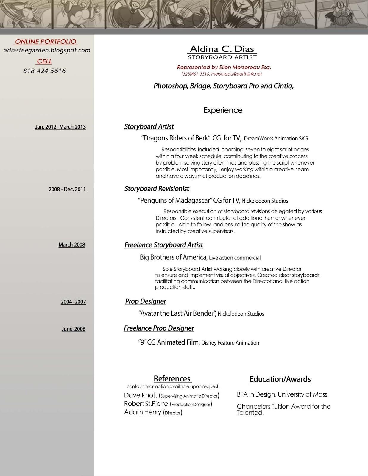 resume layout artist tk storyboard artist designer resume resume layout artist 25 04 2017
