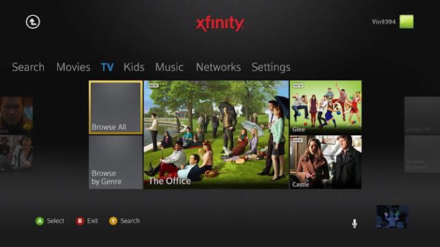 XFINITY TV on Xbox