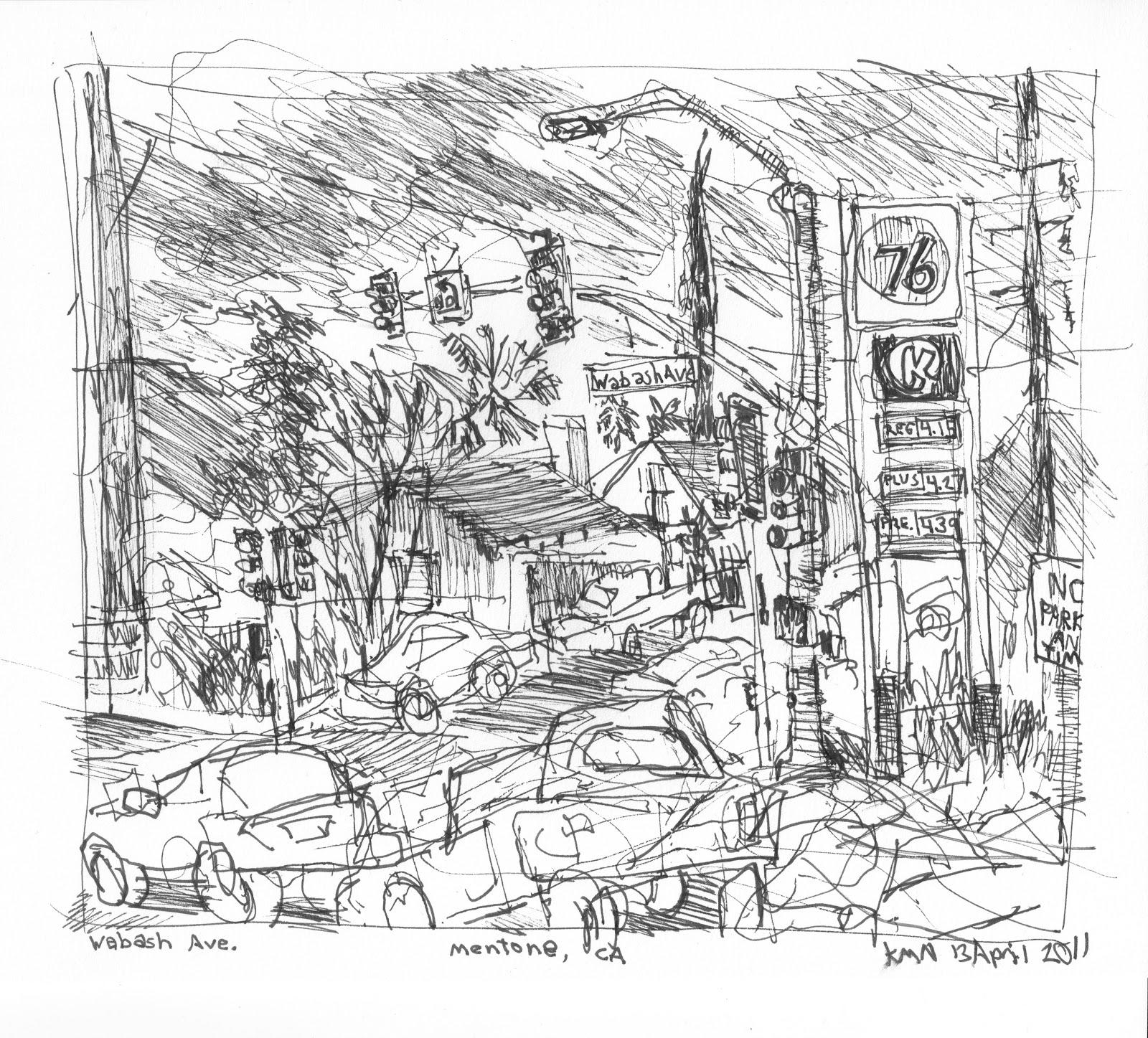 Mentone Illustrated   Kerry Niemann Art Journal