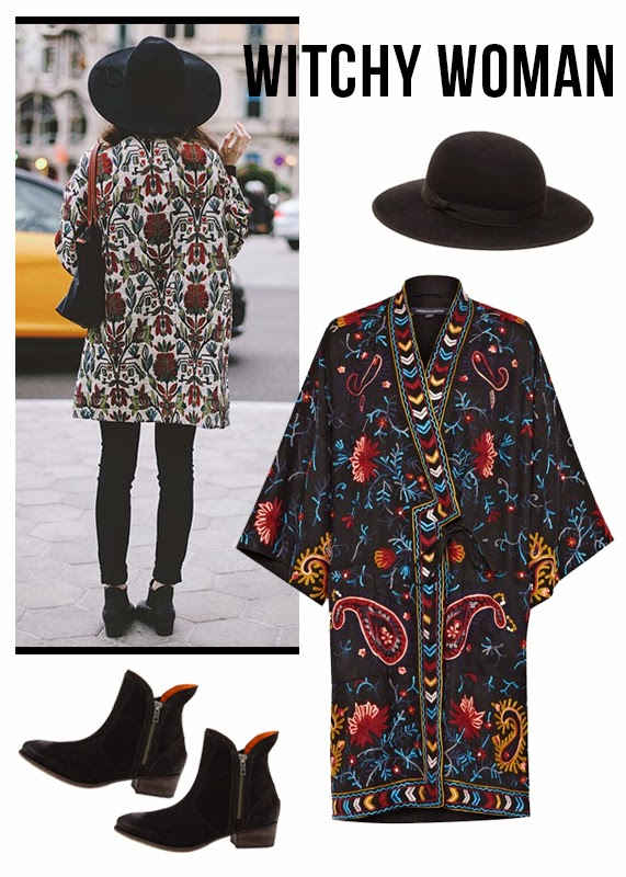 The Steele Maiden: Patterned French Connection Coat and Seychelles Boots