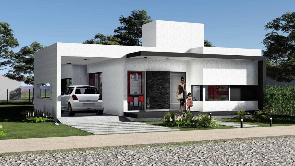 Construindo minha casa clean 35 fachadas de casas for Casas premoldeadas minimalistas