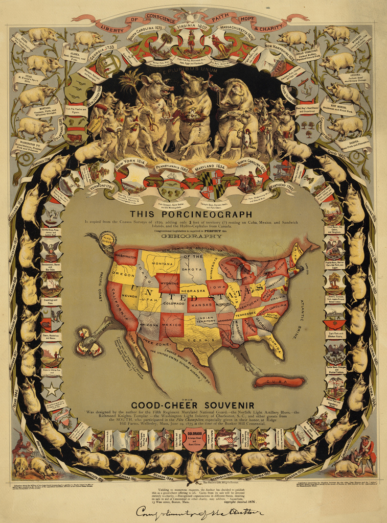 Cartographic Curiosities The United States of Pig