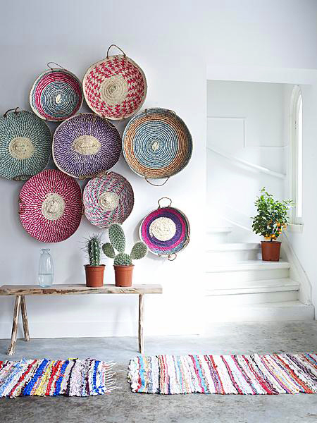 Basketry In Art : Dream vintage designs and inspiration wall decor woven
