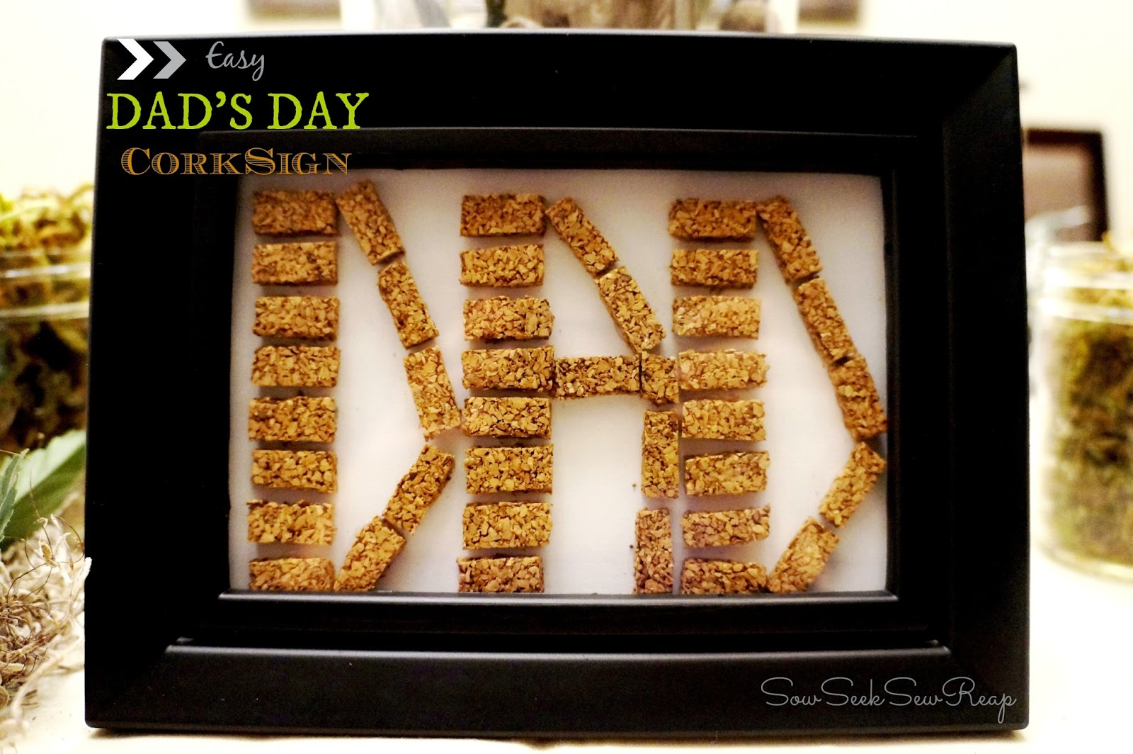 dad's day sign, cork sign, dad's day cork sign