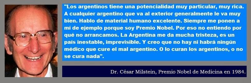 Dr. César Milstein y nosotros los argentinos.