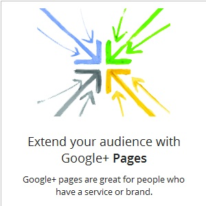 Extend audience with google plus page
