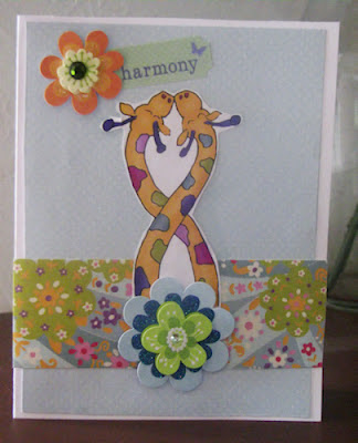 Giraffes in Love Card
