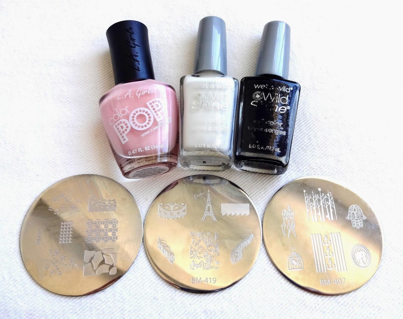 Nail polish and nail plates