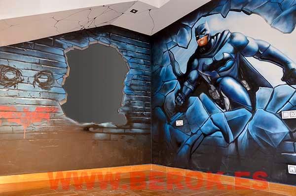 Berok graffiti mural profesional en barcelona graffitis for Mural habitacion juvenil