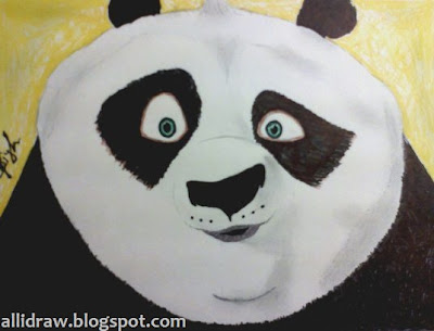 Kung Fu Panda Drawing by Maninder Pal Singh