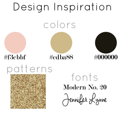 design, blog design, inspiration, gold, pink, black, simple