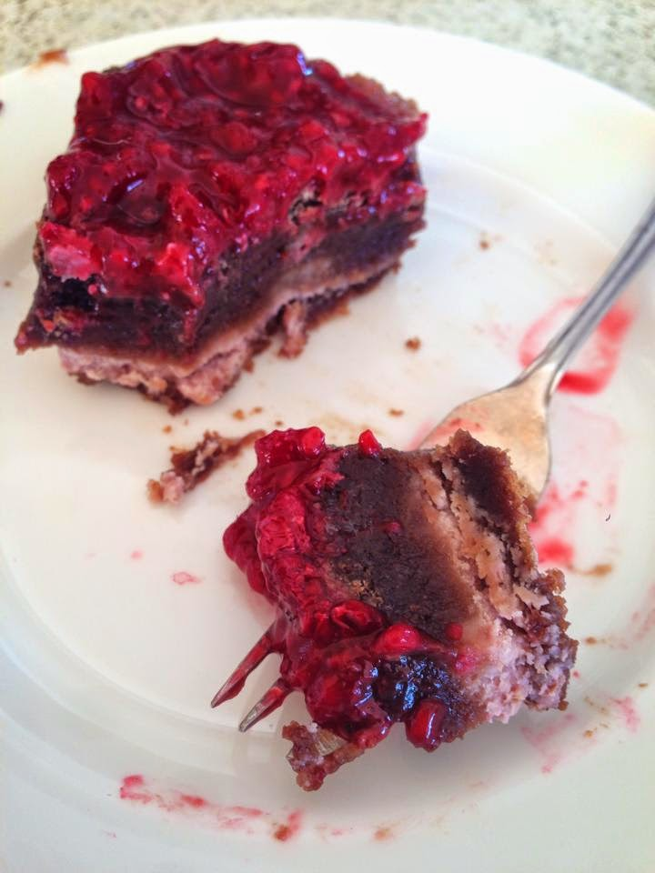 Charlie the Baker: Raspberry Cheesecake Brownies - Gluten Free