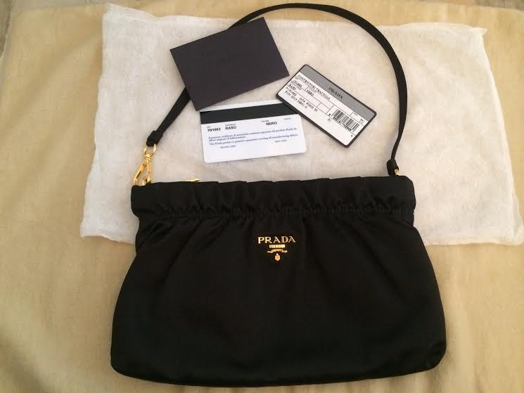 Truly Vintage: Authentic Brand New Prada Black Satin Evening Bag ...
