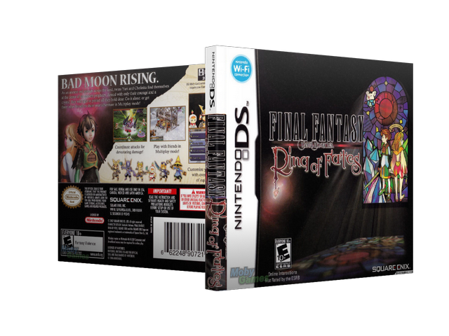 Capa Final Fantasy Crystal Chronicles Ring of Fates Nintendo DS