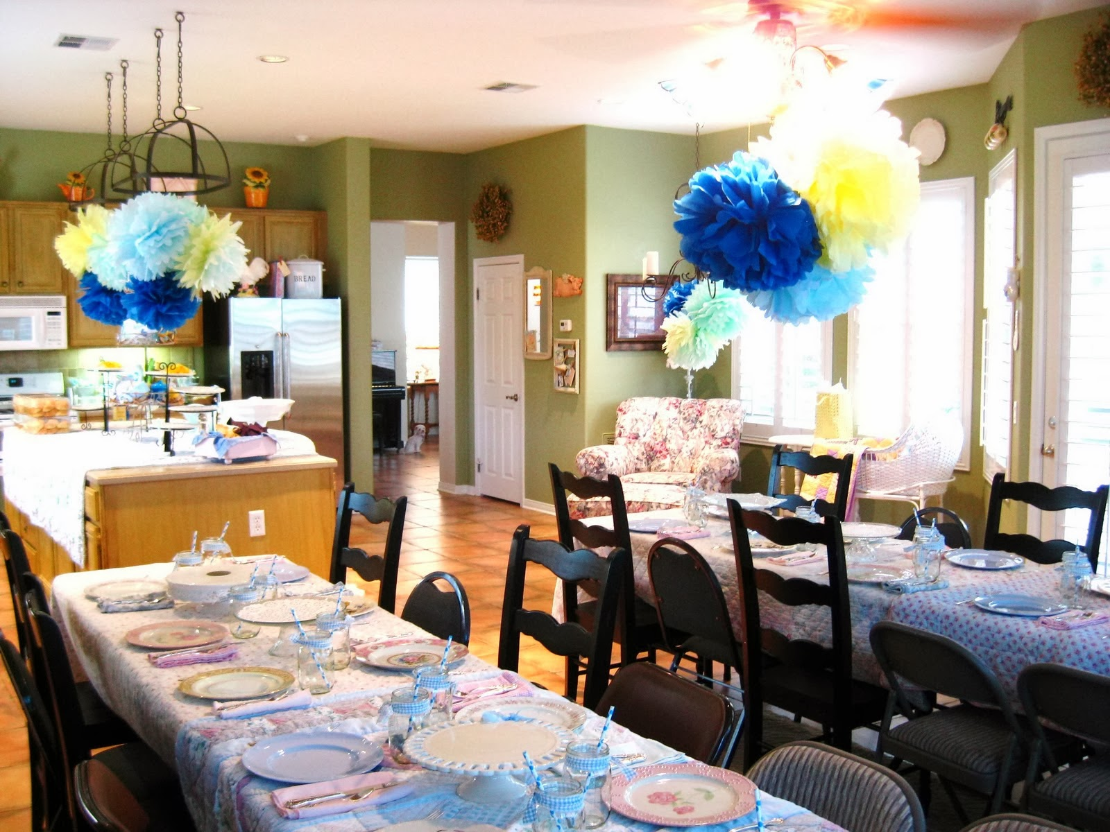 Daughters Baby Shower in Family Room/Kitchen!