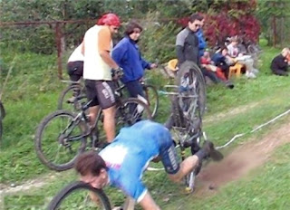 Accidente de ciclista - fail