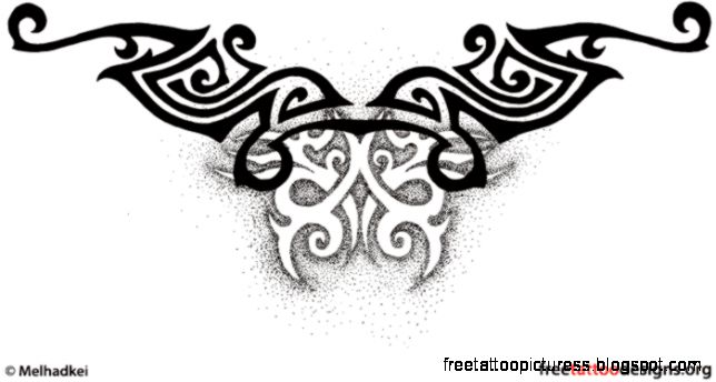 Free Tattoo Designs   Tribal Zodiac Cross Star Tattoos amp Ideas