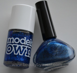 blue nail polishes