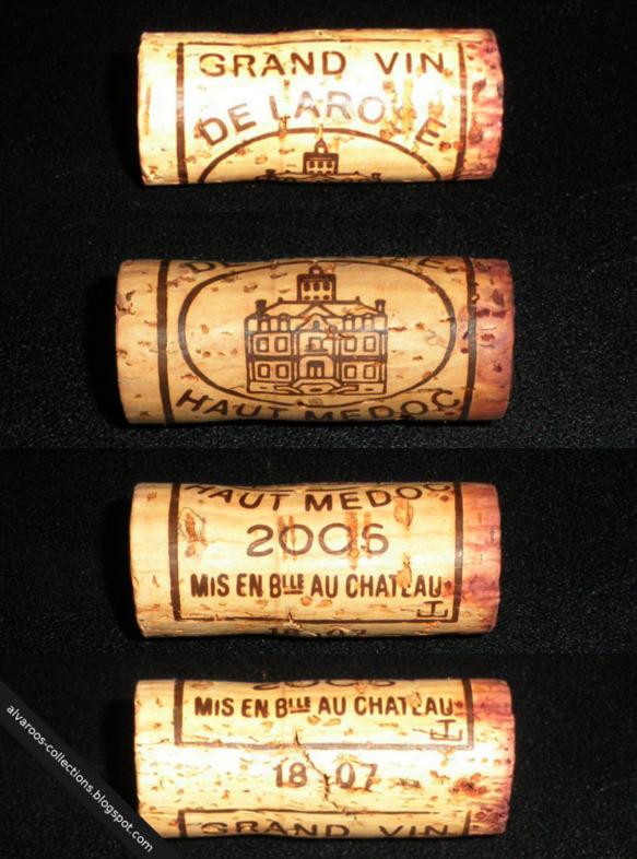 Wine cork: Grand Vin de Larose, Haut Medoc 2006